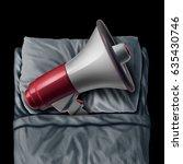 snoring concept and sleep apnea ... | Shutterstock . vector #635430746