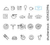 food icon set  vector   Shutterstock .eps vector #635432996