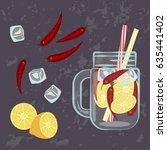 vector illustration of detox... | Shutterstock .eps vector #635441402
