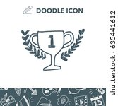 doodle champion cup | Shutterstock .eps vector #635441612