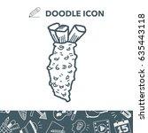 mustard doodle | Shutterstock .eps vector #635443118