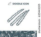 burdock doodle | Shutterstock .eps vector #635443205