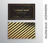 vector golden business card....   Shutterstock .eps vector #635444096