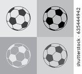 soccer or football icon. vector ... | Shutterstock .eps vector #635444942