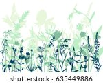 Vector Silhouettes Of Flowers...