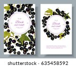 vector black currant vertical... | Shutterstock .eps vector #635458592