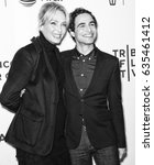 Small photo of NEW YORK, NY - APRIL 22, 2017: Actress Uma Thurman and fashion designer Zac Posen attend the 'House of Z' Premiere during 2017 Tribeca Film Festival at SVA Theatre