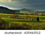 spring forest and meadows... | Shutterstock . vector #635463512