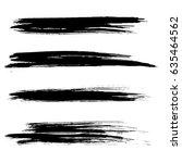 ink vector brush strokes.... | Shutterstock .eps vector #635464562