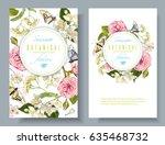 vector botanical vertical... | Shutterstock .eps vector #635468732