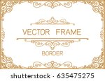 gold photo frame with corner... | Shutterstock .eps vector #635475275