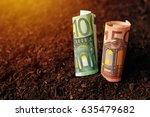 euro banknotes cash money in... | Shutterstock . vector #635479682