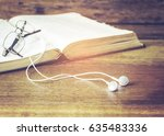 image of head phone connected... | Shutterstock . vector #635483336