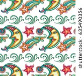 seamless vector pattern with... | Shutterstock .eps vector #635490356