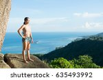 a beautiful young active and... | Shutterstock . vector #635493992