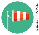 airport windsock icon.wind sock ...   Shutterstock .eps vector #635495696