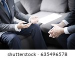 business people talking... | Shutterstock . vector #635496578