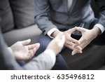business people talking... | Shutterstock . vector #635496812