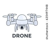 drone with camera vector...