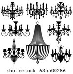 vintage crystal chandeliers...