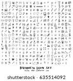 business doodles sketch vector... | Shutterstock .eps vector #635514092