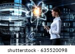 woman scientist making research   Shutterstock . vector #635520098