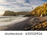 Yaquina Head Lighthouse at Pacific coast, built in 1873, Oregon, USA
