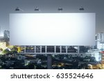 front view of empty bill board... | Shutterstock . vector #635524646