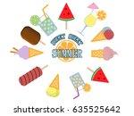 vector isolated summer flat...   Shutterstock .eps vector #635525642