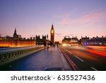 big ben and westminster abbey... | Shutterstock . vector #635527436