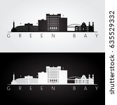 green bay usa skyline and... | Shutterstock .eps vector #635529332
