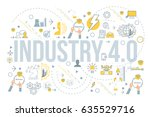 industry 4.0 concept business... | Shutterstock .eps vector #635529716