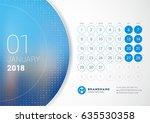 january 2018. desk calendar for ... | Shutterstock .eps vector #635530358