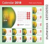 january 2018. desk calendar for ... | Shutterstock .eps vector #635530502