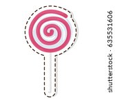 swirl lollipop candy patch... | Shutterstock .eps vector #635531606