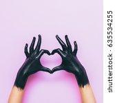 Hands In Black Paint Send Hear...