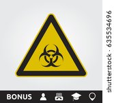 toxic sign | Shutterstock .eps vector #635534696