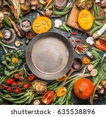various healthy and organic... | Shutterstock . vector #635538896