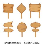 wooden direction sign isolated... | Shutterstock .eps vector #635542502