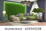 interior living room. 3d... | Shutterstock . vector #635545238