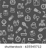 beauty and health  background a ... | Shutterstock .eps vector #635545712