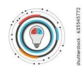 brain in lightbulb with modern...   Shutterstock .eps vector #635545772