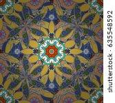ornate  eastern mandala with... | Shutterstock .eps vector #635548592