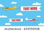 flying advertising banners ...   Shutterstock .eps vector #635550938