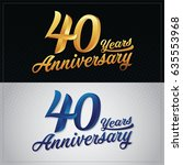 forty years anniversary... | Shutterstock .eps vector #635553968