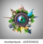 concept of photography. the... | Shutterstock . vector #635554022