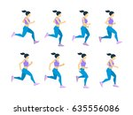 running girl young female... | Shutterstock .eps vector #635556086