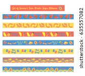 set of washi tapes summer party ...   Shutterstock .eps vector #635557082