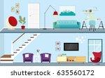 illustration of modern house... | Shutterstock .eps vector #635560172