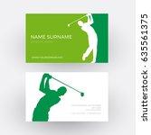 vector abstract golf club... | Shutterstock .eps vector #635561375